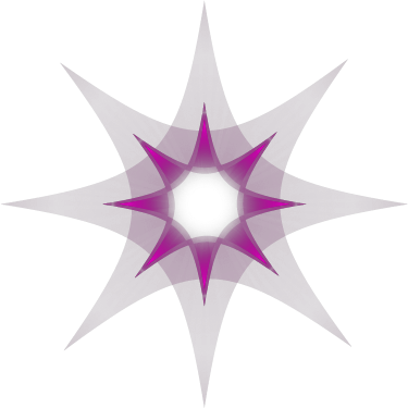 abstract star flower